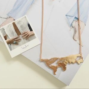Lovely map necklace